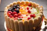 Cake with Fresh Fruit