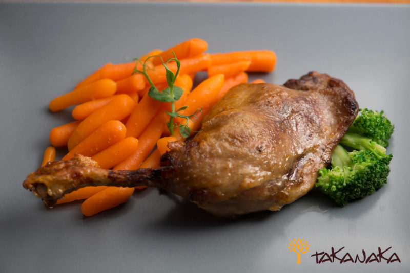 Duck l'Orange with Baby Carrots