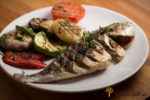 Grilled Sea Bream with Fresh Vegetables