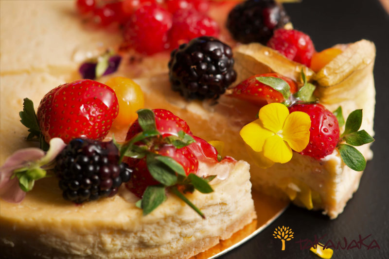 Slice of Cheese Cake With Fresh Fruit